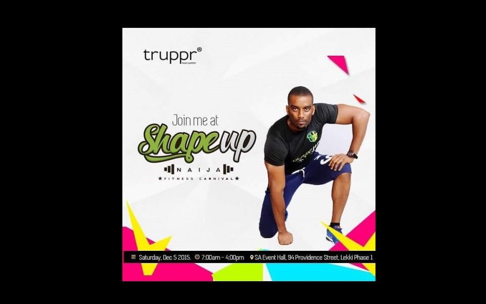 Catch Dominic live at Shape Up Naija